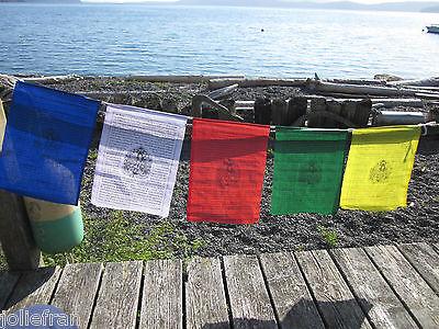 TIBETAN NUNS PROJECT MEDIUM GREEN TARA BUDDHIST PRAYER FLAGS W/ NUNS BLESSING