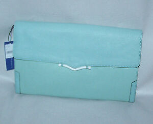 """NWT REBECCA MINKOFF Big Honey Clutch in """"Mint"""" - You Save $150 - Only 3 Left!"""