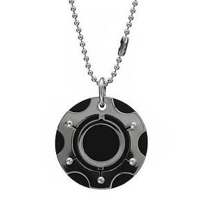 Stylish-Mens-Cool-Necklace-Crafted-in-Black-Rubber-amp-Stainless-Steel-22in