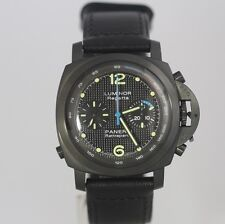 Panerai Pam 332 PVD Split Chronograph Regatta As Seen In Expendables by Stalone