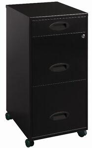 mobile file cabinet black filing cabinets home office furniture metal