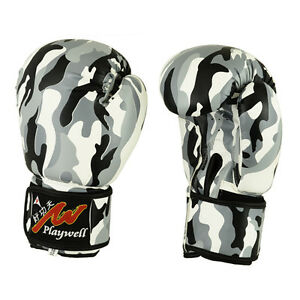 Urban-Camouflage-Boxing-Gloves-Sparring-Training-Punching-Mitts-Kick-MMA
