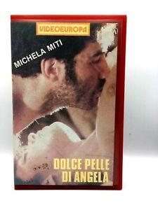 DOLCE-PELLE-DI-ANGELA-VHS-FILM-ITA-MICHELA-MITI-VIDEOEUROPA-VIDEOCASSETTA-Rara