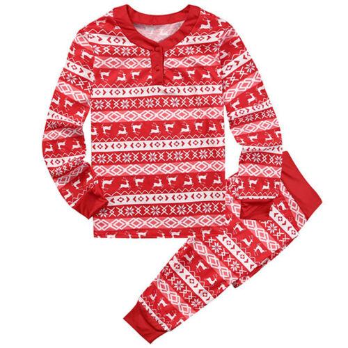 Christmas Xmas Family Matching PJs Sets Adults Kids Nightwear Sleepwear Pyjamas