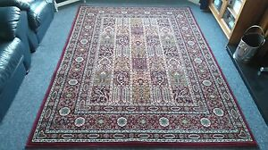 TRADITIONAL DEEP RED ORIENTAL CHINESE STYLE RUG 7'7 X 5'7' EXTRA LARGE NEW