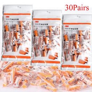 30-Pairs-Orange-Soft-Foam-3M-1100-Disposable-Noise-Reducer-Rebound-Ear-Plug