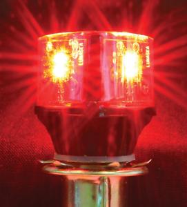 Lunasea LLB-28NR-24-SD BA15D Red Navigation LED