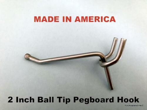 "2 Inch All Metal Peg Hooks 1//8 to 1//4/"" Pegboard Slatwall Garage kit 1000 PACK"