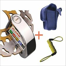 7mm Security Anti Thief Motorbike Motorcycle scooter Wheel Disc Brake alarm lock