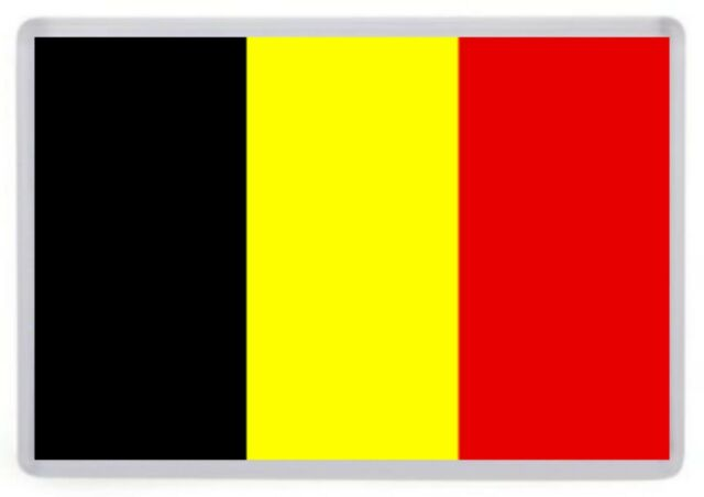 Belgium Flag Fridge Magnet. Europe