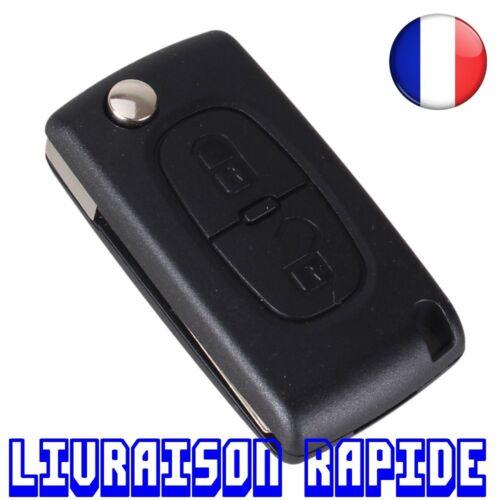 Coque Clé 2 Boutons Remplacement Peugeot CE0536 207 307 308 407 807 Flip Pliant