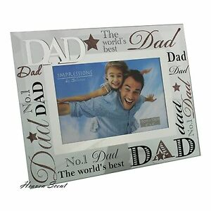 glass photo frame the worlds best dad fathers day birthday gift
