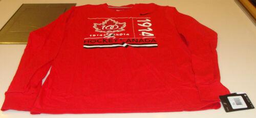 Canada 2015 World Juniors XXL Hockey IIHF 100th Anniversary T Sh