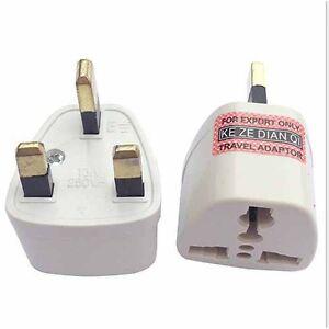 Universal Travel Adapter AU US EU to UK 3 Pin AC Power Plug Adaptor Connector UK