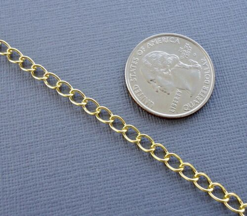 6ft Gold//silver//black Curb Cable Chains Link opened Findings Jewelry making DIY