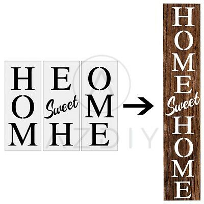 Home Sweet Home Sign DIY Kit Adhesive Word Stencil Stencils For Painting Painted Word Sign Fall Home Decor Signs Word Art