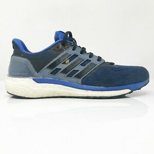 Adidas-Mens-Supernova-CG4020-Blue-Black-Running-Shoes-Lace-Up-Low-Top-Size-9-5