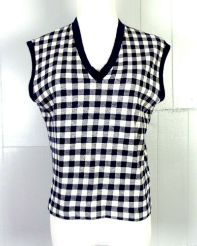 vtg 50s 60s Catalina ROCKABILLY Blue Gingham Check