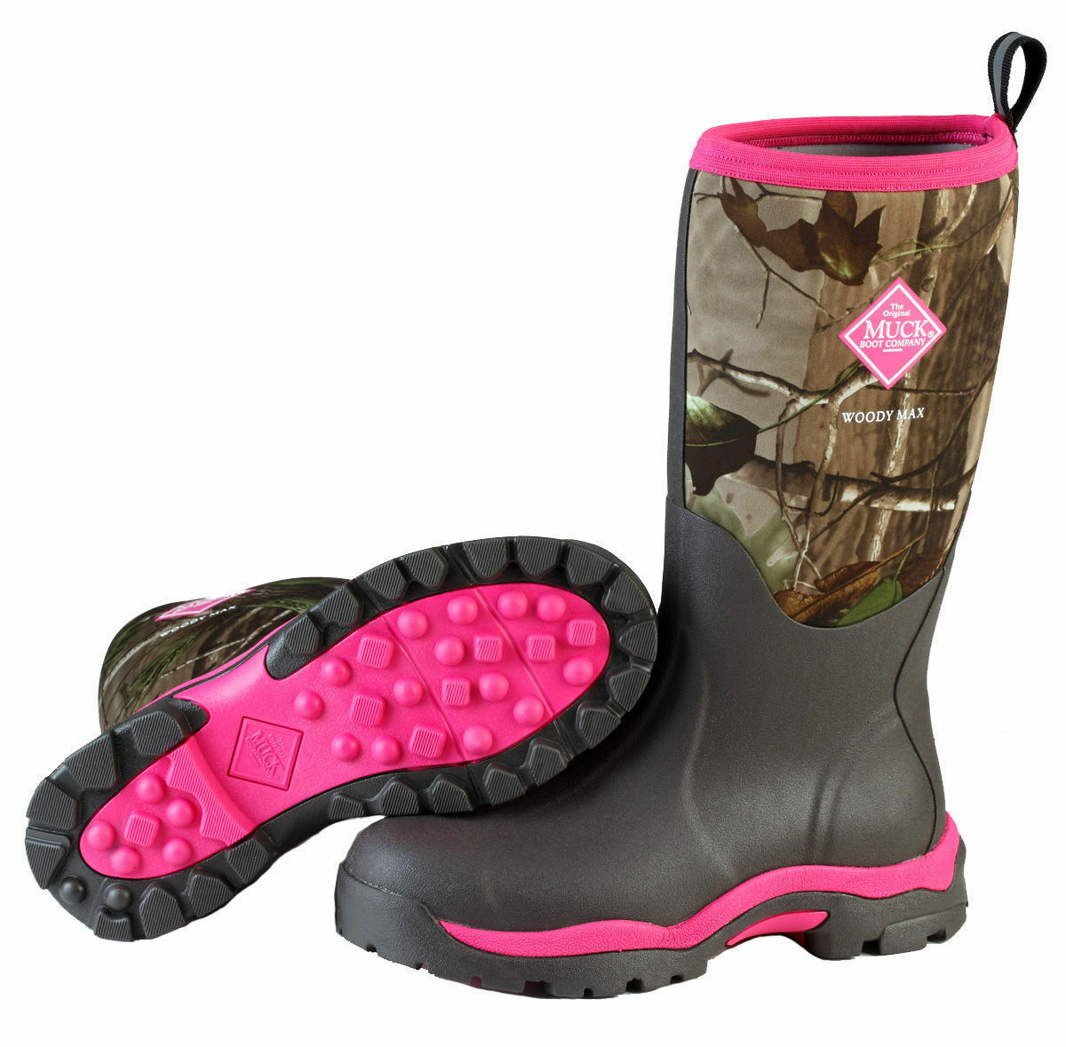 a2c48768d83 NEW MUCK WWPK-RAPG Woody PK Pink Camo Women's Boots HUNT Size Sz  6,7,8,9,10,11