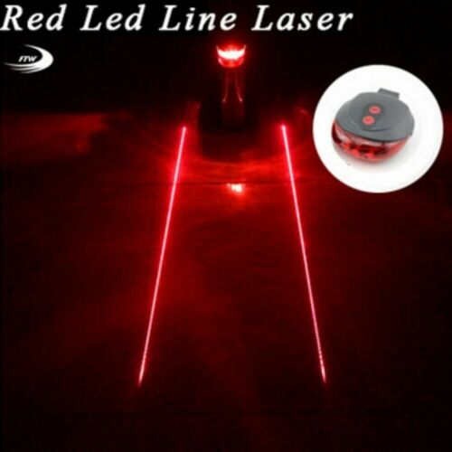 Cycling Bicycle Bike Rear Waterproof 5 LED//Laser Taillight Warning Flashing Lamp