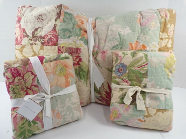 Pottery Barn Carolina Reversible Floral Patchwork King ...