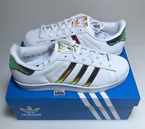 Adidas-Superstar-J-Junior-White-Gold-Green-Iridescent-