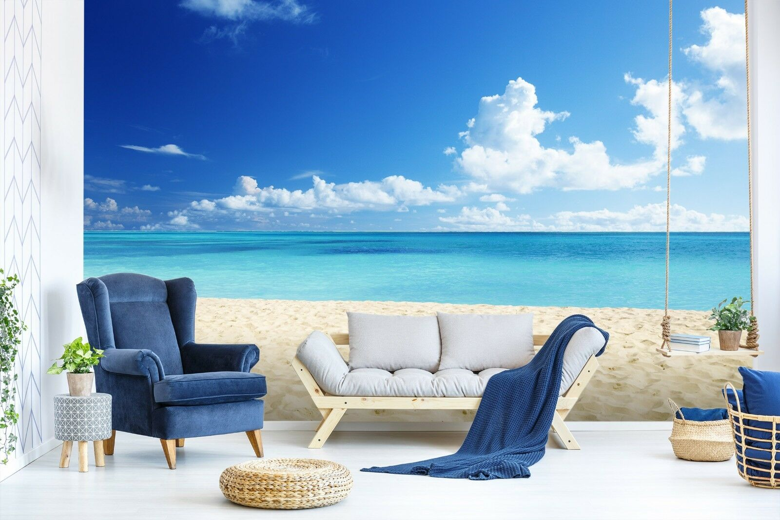 3D Beautiful Beach 844 Wallpaper Mural Paper Wall Print Murals UK Lemon