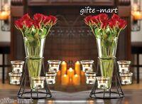 10 Black Candelabra Candle Holder Flower Vase Floral Wedding Table Centerpieces