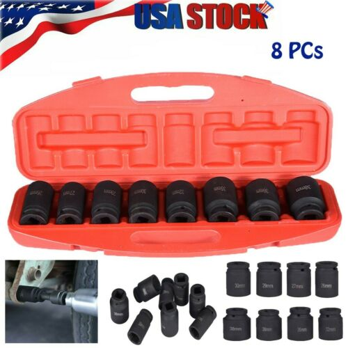 "8pc 3//4/"" 6pt Deep Impact Metric Socket Set Sockets 26 27 29 30 32 35 36 38mm US"