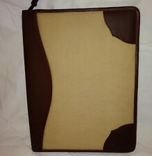 Vintage Scully  Leather Zip Portfolio Letter Pad with Pen Unused