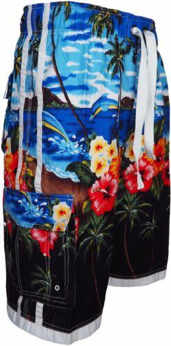 Men/'s Hawaiian Summer Beach Tree Printed Swimming Shorts