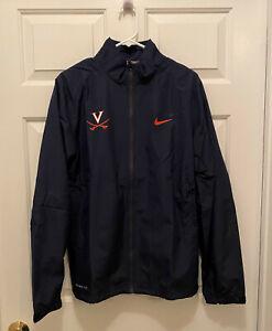 NWT-Virginia-UVA-Cavaliers-Football-Team-Issued-Nike-Full-Zip-Blue-Jacket-Small
