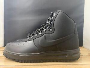 Details about Nike Men's Lunar Force 1 Duckboot '18 Triple Black Shoes BQ7930 003 SZ 8.5