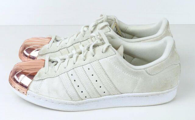 Musgo Ups estropeado  adidas Superstar 80's Metal Toe W off White Rose Gold Size UK 7 EU 40.7  Nh12 77 for sale | eBay