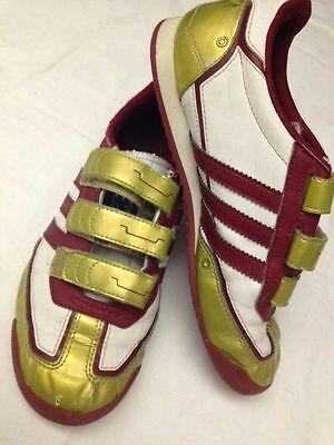 Adidas Dragon Pelle Bianche, Rosse e Oro Numero 34 Usate   eBay