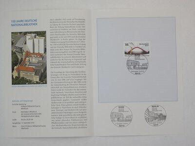 (12j40) Bund Erinnerungsblatt 2012 Esst Mi.nr. 2956 Deutsche Nationalbibliothek