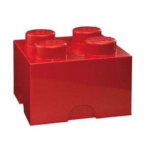 lego aufbewahrung legostein 4 rot neu schlafzimmer ebay. Black Bedroom Furniture Sets. Home Design Ideas