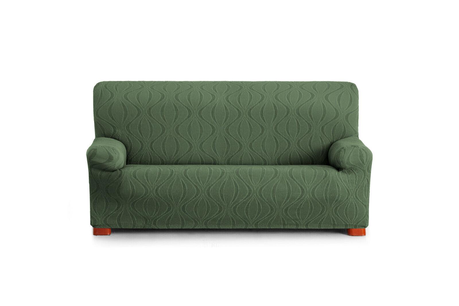 Funda elastica Grün para sofa 1,2,3,4 plazas, silla, silla, silla, orejero relax pies juntos f36138