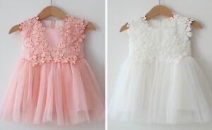 Taufkleid babykleid blumenmädenchen robe tulle taille 62 - 92-n Kleid Tüll Gr. 62 - 92afficher le titre d`origine l6ONpnMk-07141755-730437897