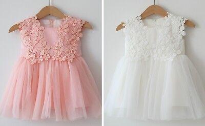 Enthusiastic Taufkleid Babykleid Blumenmädenchen Kleid Tüll Gr. 62 - 92