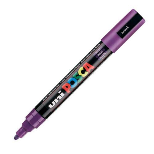 3 Pens Pack Original Version Uni Posca Paint Marker PC-5M Purple