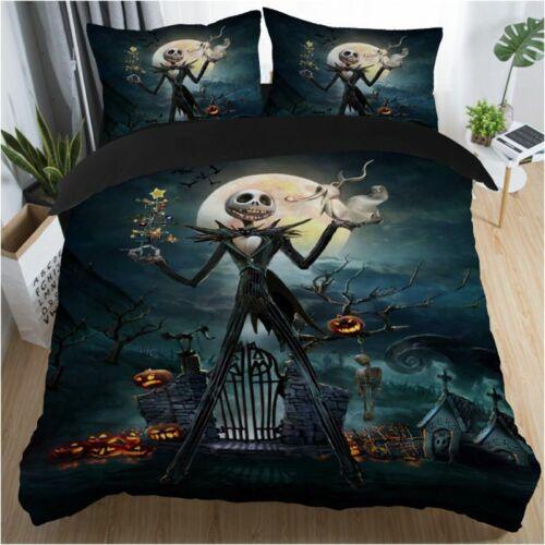 Nightmare Before Christmas Home Decor Duvet Cover Pillow Cases Quilt Bedding Set