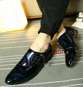 a2f2d45cdc3 ... business casual shoes leather. Image is loading Cool-Men -039-s-Lace-Pointy-Toe