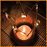 Crown Designed Glass Crystal Hanging Tea Light Candle Holder Home Decor Supplies