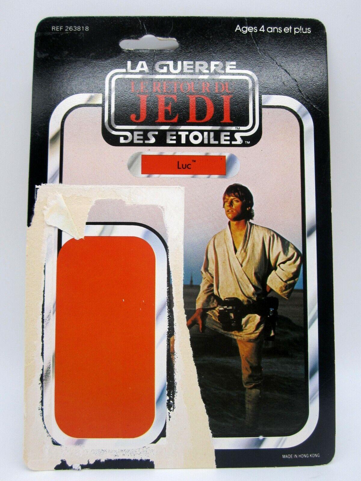 Vintage 1983 Meccanico Guerre stellari rossoJ Luke cielowalker Francia - 45 autota Back