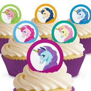 Cakeshop 12 X Essbare Einhorn Kuchen Dekoration Ebay