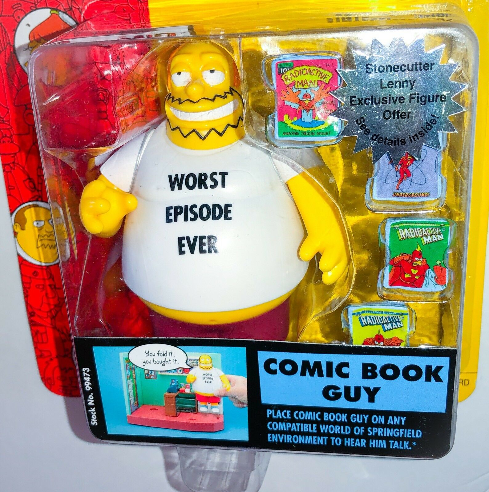 COMIC BOOK GUY White Shirt Simpsons World of Springfield WOS Figure Series 15