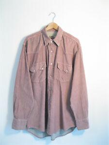 Vintage Biaggini Beige Cotton Courduroy Shirt