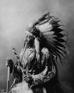 Native-American-Indian-CHIEF-BLUE-HORSE-Glossy-8x10-Photo-Oglala-Lakota-Print