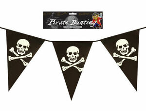 Pirate-12ft-Bunting-11-Flags-Plastic-Party-Teen-Kids-Pennants-Banner